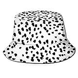 Na Tactical Sombrero Unisex Redondeado Sombrero Pescador Gorra Protección Solar para Climb Camping-Nadia Negro Y Blanco Animal Print Dálmata Spot Dots