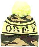 Obey Clearwater - Gorro clásico con pompones para mujer - Verde - Talla única