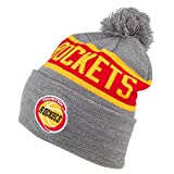 Mitchell & Ness Gorro con pompón NBA Team Tone Knit Houston Rockets Gris-Rojo - Talla única