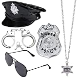 Beelittle Police Dress Up Accesorios de Disfraces para policía Swat FBI Costume Party Halloween Role Play (D)