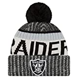 New Era NFL Sideline Bobble Knit Oakland Raiders Gorro, Negro, Talla única