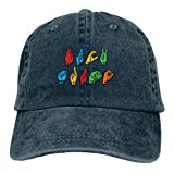RFTGB Gorras Unisex Accesorios Sombreros Gorras de béisbol Sombreros de Vaquero Trump Denim Baseball Cap, Unisex Vintage Dad Hat, Golf Hats, Adjustable Plain Cap