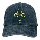 Hoswee Gorra de Béisbol Ajustable Bike Face Adult Custom Denim Outdoor Sports Hat Snapback Sombreros