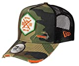 New Era Frame Adjustable Trucker Cap Distressed Hex Patch Camouflage - One-Size