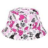Lumanuby - Sombrero de algodón con diseño de hojas de flores o graffiti, para hombre y mujer, plano, para vacaciones de verano, playa, tamaño 58-60 cm (Amor Corazón)
