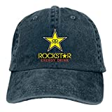 KKs-Shop Gorra de béisbol Ajustable de algodón Rockstar Energy clásica Unisex Sombrero de papá