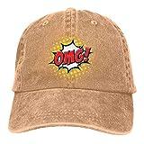 Hoswee Gorra de Béisbol Ajustable OMG Adult Personalize Jeans Cap Snapback Sombreros