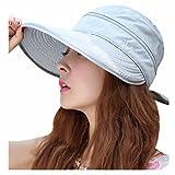 Minions Boutique - Sombrero de visera para mujer, protección UV, para playa, pesca, sol y viseras anti-UV, mujer, gris