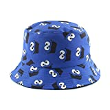 LINGZIA Sombrero de Cubo de Dibujos Animados Divertidos de Anime, Sombrero de Pescador Reversible Sombrero de Pesca de Gorra Plana de Hip Hop Callejero Unisex 2