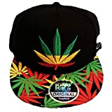 Gorra con visera plana de King Ice, con diseño de plantas de marihuana, unisex Weed Rasta Taille unique