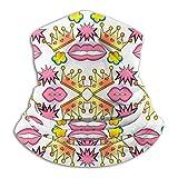 Hdaw Crown of The Mouth Microfibra Cuello Calentador Sombreros Bufanda Clima frío Invierno Deportes al Aire Libre Bandana Balaclava Unisex