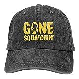 RFTGB Gorras Unisex Accesorios Sombreros Gorras de béisbol Sombreros de Vaquero Gone Squatchin Denim Baseball Cap, Unisex Vintage Dad Hat, Golf Hats, Adjustable Plain Cap