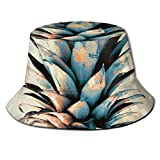 Sombrero de Pescador de piña Sombreros de Copa Transpirables de Tapa Plana Sombrero de Sol de Moda Unisex Verano