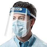 Generies Pantalla Protectora Facial (Pack x20 uds), Mascaras Protectoras Transparente, Antiarañazos y Antisalpicaduras, Visera Protectora Cara Ajustable para Hombres Mujeres