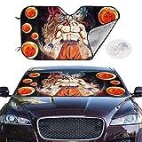 Beth-D Bloques de Parasol del Parabrisas del automóvil Rayos UV Protector de Visera Parasol - Sombrilla Goku Dragon-Balls para Mantener su vehículo Fresco