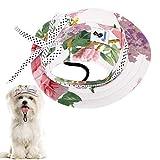 Pawaboo Gorra de Princesa del Perro Gato, Ajustable Perro de Deporte al Aire Libre de Protección del Sol Sombrero Redondo de Béisbol del Visera de la Moda del Borde Tapa Visera, Talla L - Flor