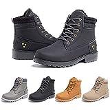 Botas Mujer Invierno Botines Nieve Zapatillas Trekking Calentitas Boots Cordones Zapatillas Planas AntideslizanteCasuales Negro Talla 37 EU