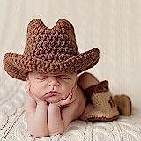 TININNA - Juego de botines de punto para recién nacido y niña