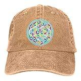 Hoswee Gorra de Béisbol Ajustable Flower of Life Adult Custom Cowboy Hat Casquette Snapback Sombreros