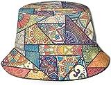 Elementos Decorativos Vintage Parte Superior Plana Sombrero de Pescador Unisex Gorras al Aire Libre para Viajes Playa Protección Solar Gorra de Pescador Sombrero de Cubo de Rayas onduladas Sombrero d