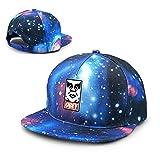 Obey Street Art Galaxy, gorra de béisbol de algodón con visera plana para adultos, color azul