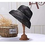 Xme Gorro de Paja de Primavera y Verano, Sombrero Solar Plateado para el Sol, Sombrero de Paja Plegable para Mujer