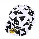 Gorra de béisbol unisex de tamaño ajustable con cierre trasero, para el sol, para conductor de camión, senderismo, Hip Hop de Yohope, White Geometric patterns
