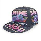 Gorras de béisbol unisex planas si no es anime videojuegos o comida I Don't Care ajustable Snapback 3D Hip-Hop para uso diario negro