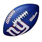 Wilson WTF1534XBNG Pelota de fútbol Americano NFL JR Team New York Giants Material Compuesto, para niños, Azul/Gris, Junior