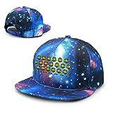 Unisex Like A Lion, Reggae, Rastafari, Africa, Jah, Jamaica (2) Galaxy Cotton Hip Hop Snapback Sombrero de ala Plana Gorras de béisbol para papá Adulto Azul