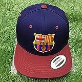 Fanáticos Del Equipo de Fútbol Europeo Sombreros de Regalo Gorras de Béisbol Casuales Sombreros para el Sol Al Aire Libre, Azul Barcelona, Talla Única, S-C