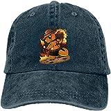 217 Hombre Mujer Gorra de béisbol de Mezclilla de algodón Ajustable Anime Hellsing Obey Sombrero de Caza